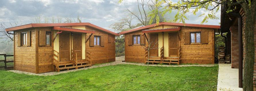 Clemente prefabbricati in legno case mobili bungalow for Piccoli bungalow piani casa con garage